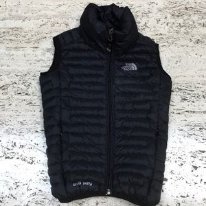 The north face puffer vest black 900 series sz 4
